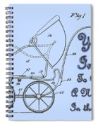 Patent Art Robinson Baby Carriage Invite-blue Spiral Notebook