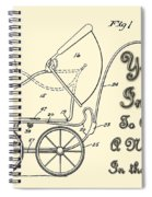 Patent Art Robinson Baby Carriage Invite Yellow Spiral Notebook