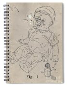 Patent For Crying Baby Doll Spiral Notebook