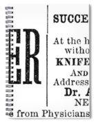 Patent Medicine, 1876 Spiral Notebook