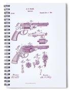 Patented Revolver In Purple Spiral Notebook