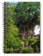 Path Leading To Tree Of Life Spiral Notebook