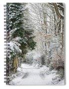 Path Through The Snow Spiral Notebook