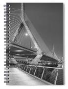 Path To The Leonard P. Zakim Bridge Bw Spiral Notebook