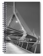 Path To The Leonard P. Zakim Bridge Bw Spiral Notebook