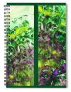 Path To The Unknown Diptych In Green Spiral Notebook