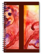 Path To The Unknown Warm Diptych  Spiral Notebook