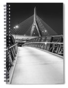 Path To The Zakim Bridge Bw Spiral Notebook