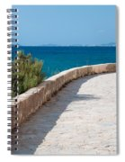 Pathway By The Sea Spiral Notebook