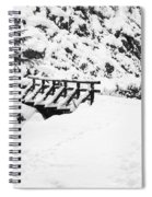 Pathway Through The Snow Spiral Notebook