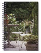 Patio Les Cascades Durfort France Spiral Notebook