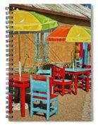 Patio Old Town Albuquerque New Mexico Dsc08203 Spiral Notebook
