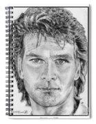 Patrick Swayze In 1989 Spiral Notebook