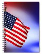 Patriotic American Flag Spiral Notebook