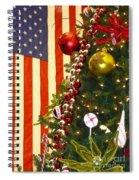 Patriotic Christmas Spiral Notebook