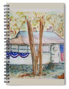 Patriotic Cottage Spiral Notebook