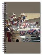 Patriotic Cowgirls Firetruck July 4th Parade Prescott Arizona 2002 Spiral Notebook