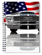 Patriotic Ford Mustang 1966 Spiral Notebook