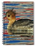 Patriotic Merganser Spiral Notebook