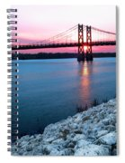 Patriotic Sunset Thru Bridge Spiral Notebook