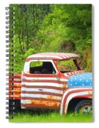 Patriotic Truck Spiral Notebook