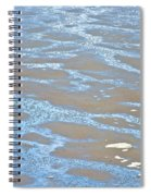 Pattern In Mud Flats At Low Tide In Kachemak Bay From Homer Spit-alaska Spiral Notebook