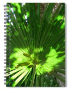 Green Plant Pattern Spiral Notebook