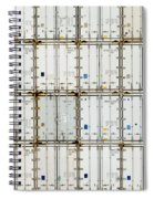 Pattern Of Shipping Container Stack At Depot Spiral Notebook