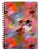 Pattern Of Triangle Spiral Notebook
