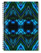 Patterned Art Prints - Cool Change - By Sharon Cummings Spiral Notebook