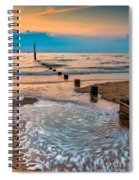 Patterns On The Beach  Spiral Notebook