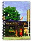 Patty's Pub Guinness On The Glebe Restaurant Bar Bank And Ossington Paintings Of Ottawa Art Cspandau Spiral Notebook