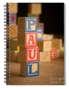 Paul - Alphabet Blocks Spiral Notebook
