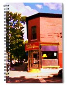 Paul Patate Pointe St Charles South West Montreal Autumn Street Scene Carole Spandau Spiral Notebook