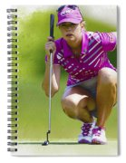Paula Creamer Lines Up Her Putt Spiral Notebook