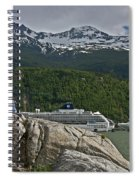 Pause In Wonder At Cruise Ships In Alaska Spiral Notebook