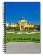 Pavillion In Green Park Of Zagreb Spiral Notebook