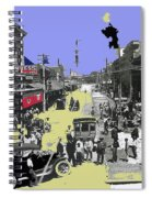 Paving East Congress In Tucson 1913 The Year Villa Visited Tucson Spiral Notebook