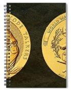 Pawnee Nation Tribe Code Talkers Bronze Medal Art Spiral Notebook