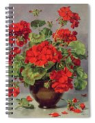 Geranium In An Earthenware Vase Spiral Notebook