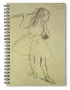 Girl Dancer At The Barre Spiral Notebook