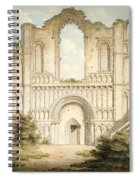 Pd.56-1958 West Front Of Castle Acre Spiral Notebook