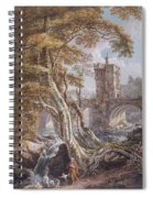 View Of The Old Welsh Bridge Spiral Notebook