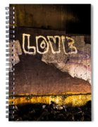 Peace And Love Under The Bridge Spiral Notebook