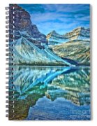 Peace At Bow Lake Spiral Notebook