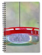 Peace At The Feeder Spiral Notebook