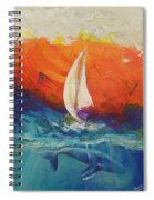 Peace Below The Surface Spiral Notebook