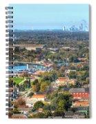 Peace Bridge And Niagara Falls Autumn 2013 Spiral Notebook