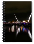 The Peace Bridge At Night Spiral Notebook
