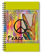 Peace In Every Color Spiral Notebook